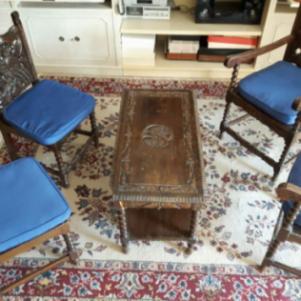 Σαλονάκι Σκυριανό (τραπεζάκι 2 πολυθρόνες 2 καρέκλες)