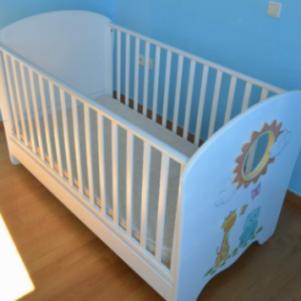 Κρεβάτι βρεφικο παιδικό με στρωμα