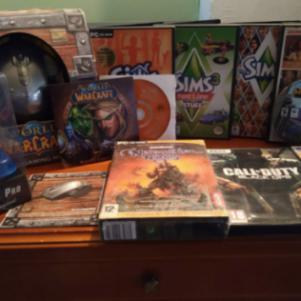 World of warcraft mouse + games + amiga joystick με πολλα παιχνι