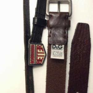 Dsquared2 και Dolce & Gabbana δερμάτινες ζώνες