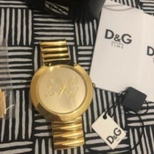 Ρολόι D&G 100% αυθεντικό χρυσό stainless steal