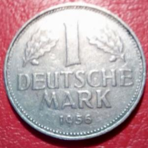 1 marc  F, 1956 , GERMANY