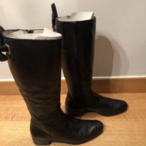 Δερμάτινες Μαύρες Μπότες