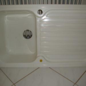 Νεροχύτης Κουζίνας Ιταλικός (Elleci Mida 0,86X0,50) Λευκός.