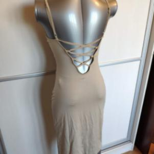 Women Nude Bodycon Strappy Dress
