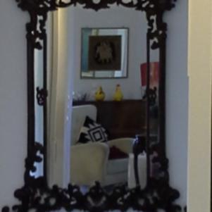Ξυλόγλυπτος καθρέφτης
