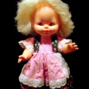 Παλαιά παιδική κούκλα δεκαετίας 1960 MIGLIORATI - ITALY.