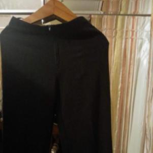 Μαυρη-γκρι καμπάνα παντελόνι