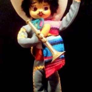 Όμορφο αυθεντικό χειροποίητο Μεξικάνικο σουβενίρ δεκαετίας 1965-