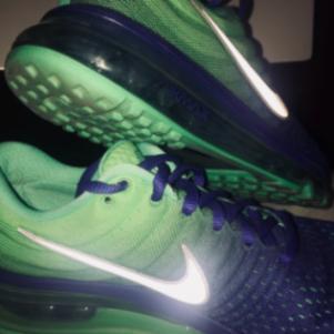 Nike AIRMAX Royal Blue Green Running Shoes