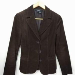 Σακάκι κοτλέ σε καφέ χρώμα (Small/Zara)