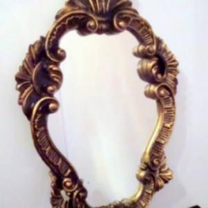 Παλαιός πλαστικός καθρέφτης τοίχου (FLORENCE O.F.M.)