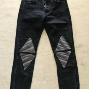"Salt and Pepper ""Kelly black metal"" jeans"