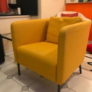 Πολυθρονα χρωματος κιτρινη