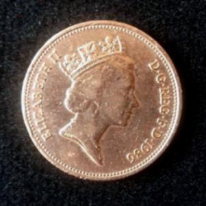 Παλαιό νόμισμα των δύο πεννών. (1986).