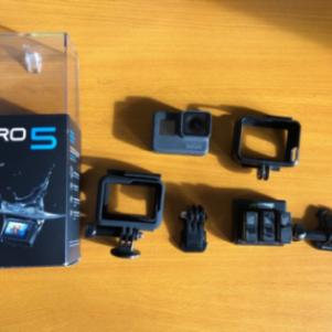 GoPro Hero 5 + 3 batteries