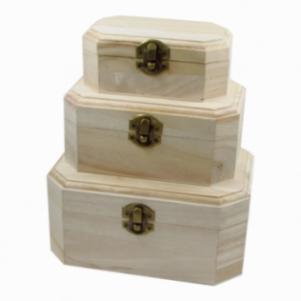 Σετ 3 κουτιά από ξύλο παυλώνιας