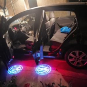 2 τεμάχια φώτα πόρτας λογότυπων LED Door 3D σκιά Φωτεινό λογότυπ