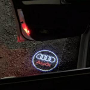 2 τεμάχια φώτα πόρτας λογότυπων LED 3D σκιά Φωτεινό λογότυπο αυτ