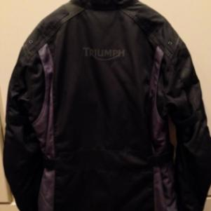 Triumph Bike Jacket, Black (new without tags) size Large