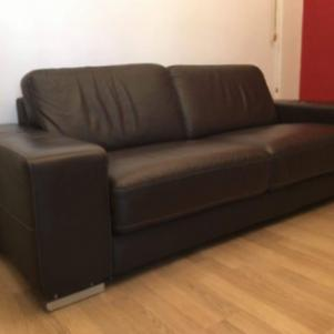 Δερμάτινος τριθέσιος καναπές