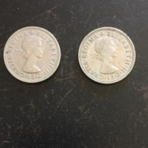 2 Νομίσματα Αγγλίας
