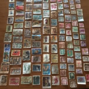 Συλλογη γραμματοσημα 130 κομματια