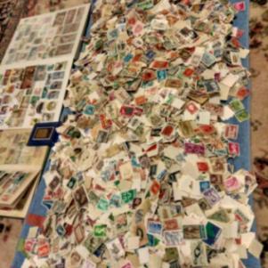 10.000 Γραμματόσημα Ελληνικά-Ξένα! 0.05 λεπτά ανά γραμματόσημο.