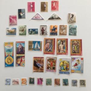 2000 Διαφορετικά γραμματόσημα απο 40+ χώρες