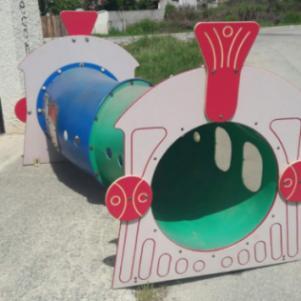 Τούνελ ατμομηχανή παιδικής χαράς