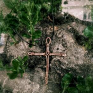 Χειροποίητος χάλκινος σταυρός